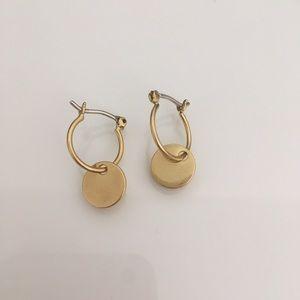 Madewell Disc Charm Mini Hoop Earrings